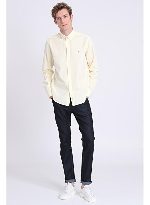 Lufian Slim Fit Uzun Kollu Gömlek Sarı